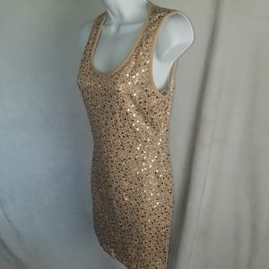 Forever 21 Sleeveless Mini Party Dress Sz Sm Shiny